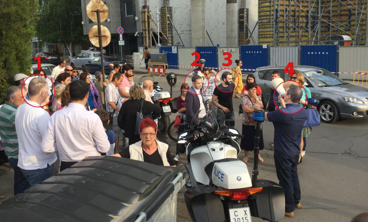 Протест на Кадиев в Лозенец
