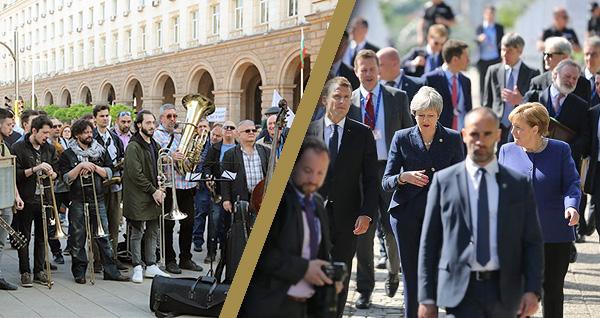 Музиканти от БНР на протест
